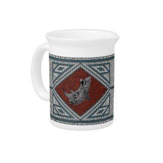 Römisches Nashorn-Mosaik Getränke Pitcher