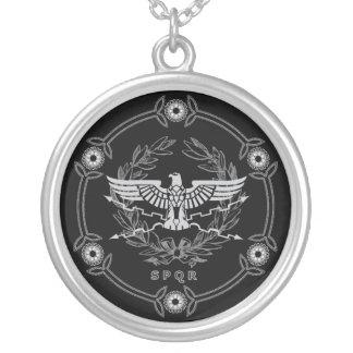 Römisches Reich-Emblem Versilberte Kette