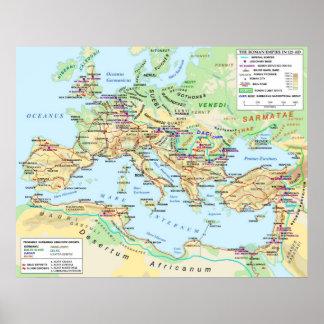 Römisches Reich-Karten-Plakat Poster