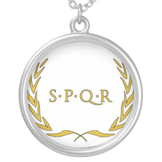 Römisches Siegel Versilberte Kette