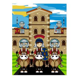 Römisches Soldat-schützender Turm-Fort Postkarte