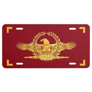 Römisches SPQR Eagle Vexilla US Nummernschild