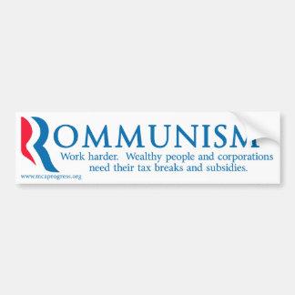 Rommunism Autoaufkleber