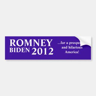 Romney Biden 2012 Autoaufkleber