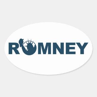 Romney für den Freiheits-ovalen Aufkleber -weiß