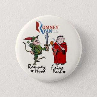 Romney Haube u. Mönch Paul (Ryan) Runder Button 5,1 Cm