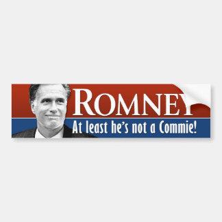 Romney - mindestens er ist nicht ein Commie Autoaufkleber
