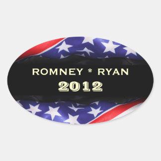 Romney/Oval-Aufkleber Ryans 2012 Ovaler Aufkleber