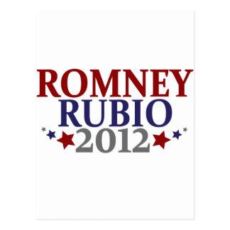 Romney Rubio 2012 Postkarte