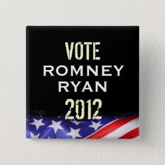 Romney Ryan 2012 Kampagnen-Knopf (Quadrat) Quadratischer Button 5,1 Cm