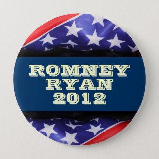 Romney/Ryan 2012 runde Compaign Knöpfe Runder Button 10,2 Cm