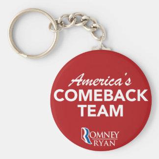 Romney Ryan Amerika Come-back-Team rund (rot) Schlüsselanhänger