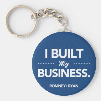 Romney Ryan baute ich mein Geschäft auf (blau) Schlüsselanhänger