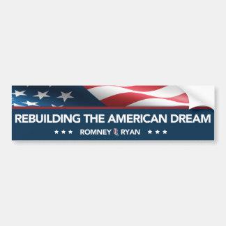 Romney Ryan, das den amerikanischer Autoaufkleber