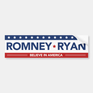 Romney Ryan glauben an Autoaufkleber