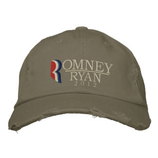 Romney/Ryan Grunge-Vintager gestickter Hut 2012