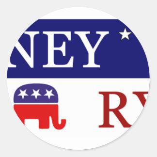 Romney Ryan Kampagne 2012 Runde Sticker