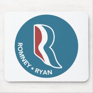 Romney Ryan R Logo rund (blau) Mauspad