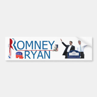 Romney/RyanAutoaufkleber 2012 Autoaufkleber