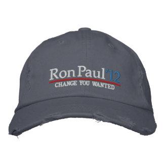 Ron Paul 2012 kundengerechte gestickte Hüte Bestickte Kappe