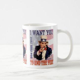 Ron Paul Enden-2012 gefüttert Kaffeetasse