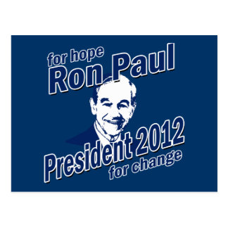 Ron Paul für Hoffnung und Änderung Postkarte
