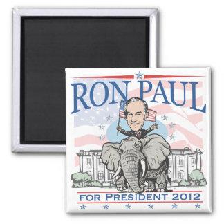 Ron Paul GOP-Maskottchen 2012 Quadratischer Magnet