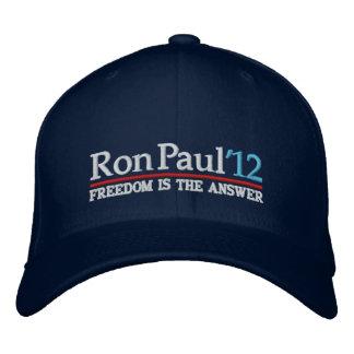 Ron Paul' Hut Art mit 12 Kampagnen Bestickte Baseballmütze