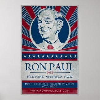 Ron Paul Kalifornien Poster