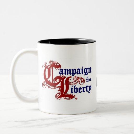 Ron Paul-Kampagne für Freiheit Zweifarbige Tasse