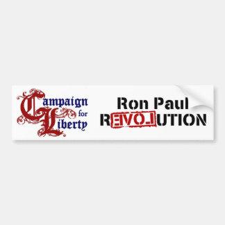 Ron Paul-Kampagne für Freiheits-Revolution Auto Aufkleber
