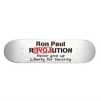 Ron Paul-Revolution geben nie Freiheit auf Bedruckte Skateboarddecks