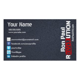 Ron Paul-Revolutions-Karte Visitenkarten Vorlage