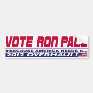 Ron Paul-Überholung Autoaufkleber