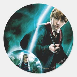 Ron Weasley und Lucius Malfoy Runder Sticker