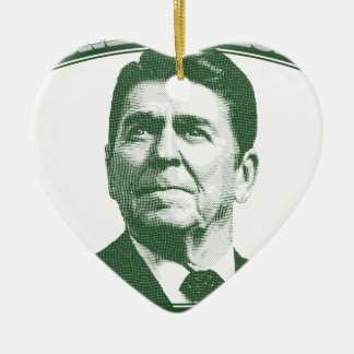 Ronald Reagan eine Nation unter Gott Keramik Herz-Ornament