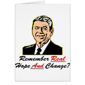 Ronald Reagan erinnern sich an wirkliche Hoffnung Karte