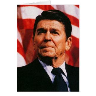 Ronald Reagan-Flagge-Porträt Karte