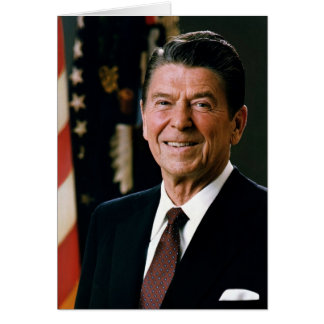 Ronald Reagan-Porträt Karte