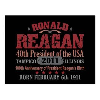 Ronald Reagan Postkarte