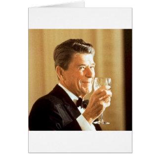 Ronald Reagan-Toast Karte