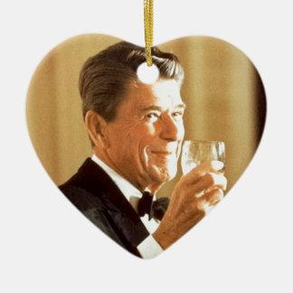 Ronald Reagan-Toast Keramik Herz-Ornament