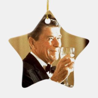 Ronald Reagan-Toast Keramik Stern-Ornament