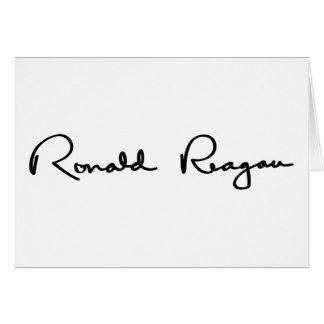 Ronald Reagan-Unterzeichnung Karte