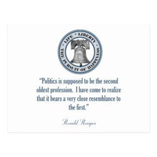 Ronald Reagan-Zitat (der älteste Beruf) Postkarte