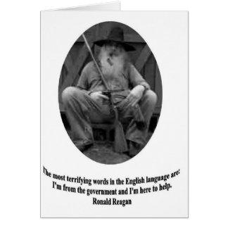 Ronald Reagan-Zitat Karte