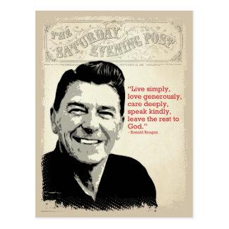 Ronald Reagan-Zitat Postkarte