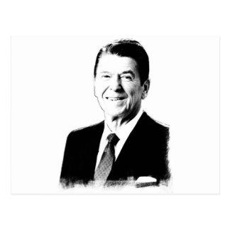 Ronald- Reaganzeichnen Postkarte