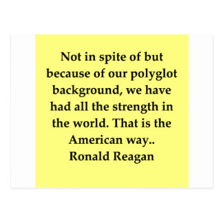 Ronald- Reaganzitat Postkarte