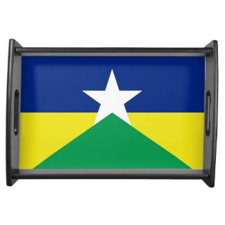 Rondonia Flagge Brasilien-Regionsprovinzsymbol Serviertablett